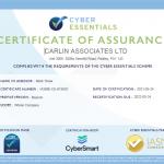 Cyber Essentails Certificate Of Assurance